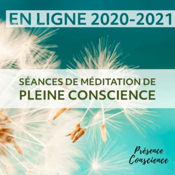En ligne – Séances de méditation de pleine conscience, année 2020-21